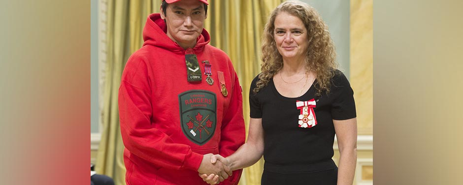 Slide - Ranger Fontaine Fiddler and Governor General Julie Payette