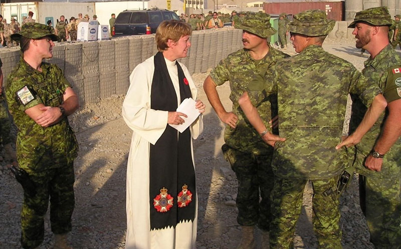 Lieutenant-Colonel Leslie Dawson in Afghanistan. Photo courtesy of the Canadian Armed Forces