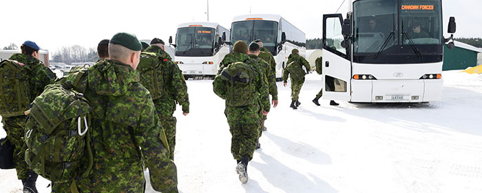 125 Canadian Army soldiers depart for Eastern Europe