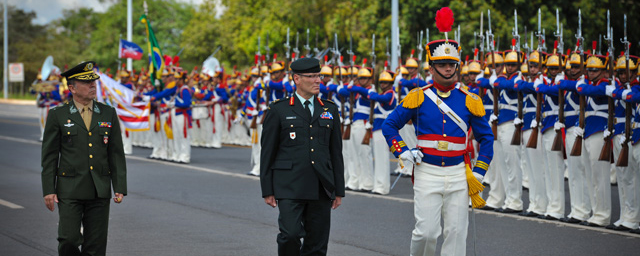 Lieutenant-General Marquis Hainse vists Chile and Brazil
