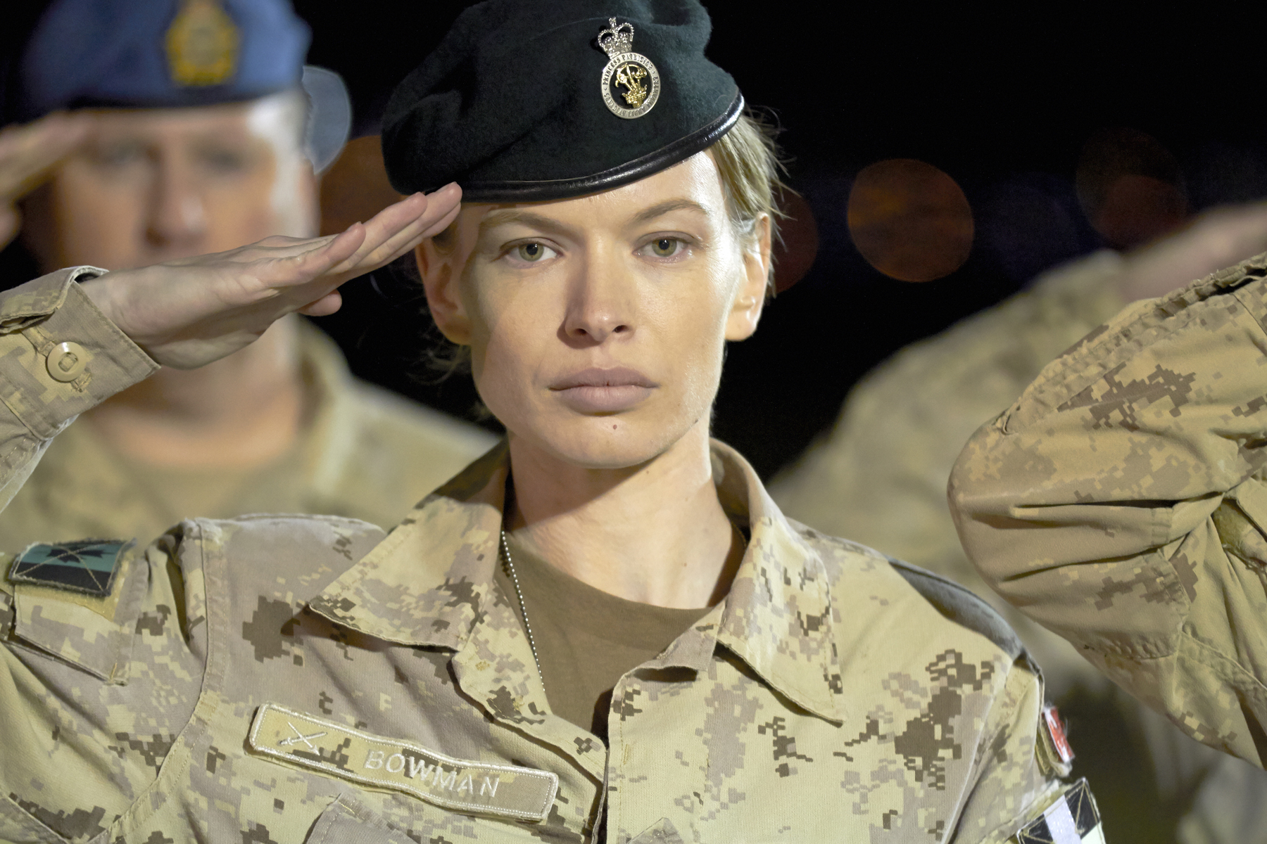 While learning her lines was no problem, Canadian actress Christine Horne said the Canadian Army's acronyms were another story as she player her part as Capt Jennifer Bowman in the 2015 Paul Gross war movie Hyena Road. Photo provided.