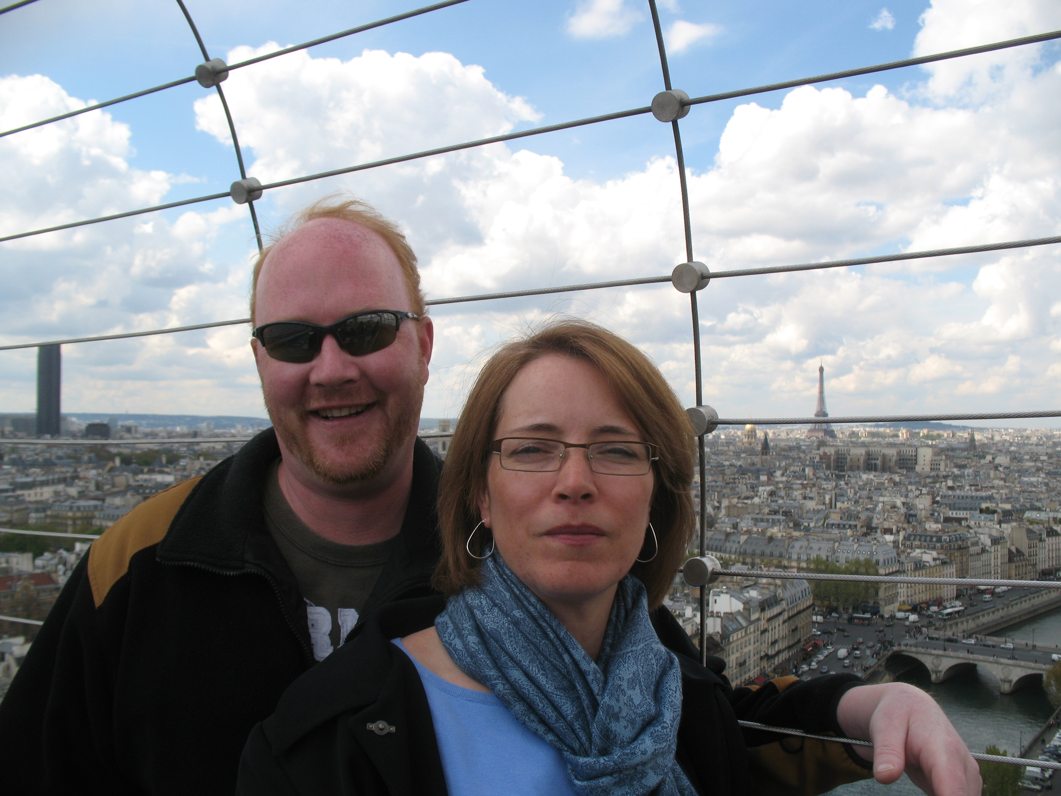 Colonel Josée Robidoux relaxes with husband Major Shaun Funk in Paris, France in April 2012 while she was on leave from her tour in Afghanistan. Photo courtesy Colonel Josée Robidoux.