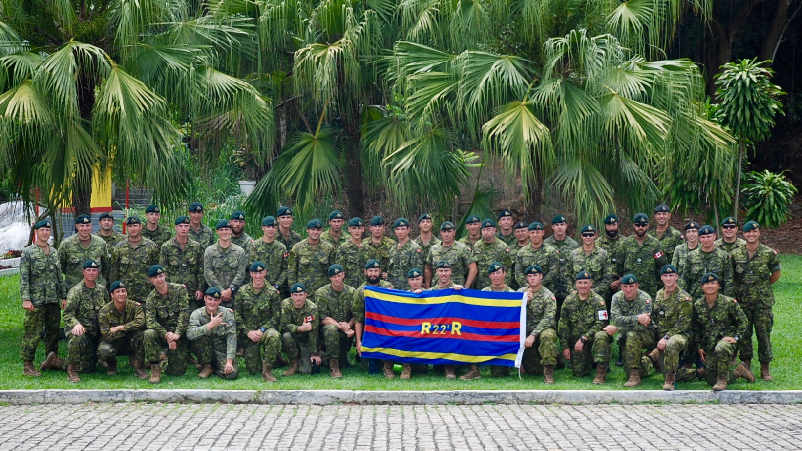 The Canadian Army delegation to the South American exercise UNITAS-AMPHIBIOUS held in Brazil from November 14 to 25, 2015. Photo by: Capt Ken Wang, 2nd Batallion Royal 22e Régiment. ©2015 DND-MDN Canada.