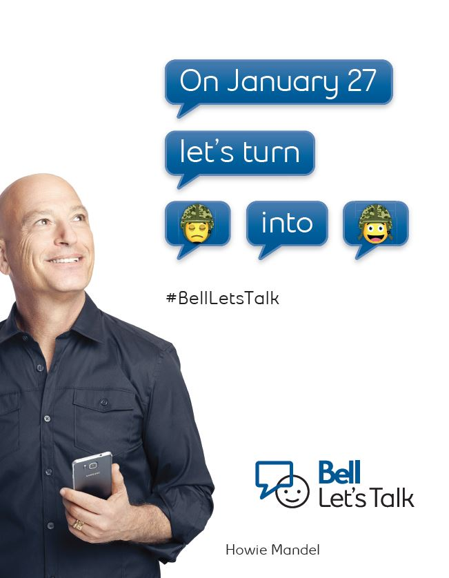 Bell Let's Talk graphic with Howie Mandel.