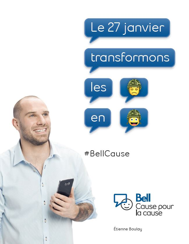 Bell Let's Talk graphic with Étienne Boulay.