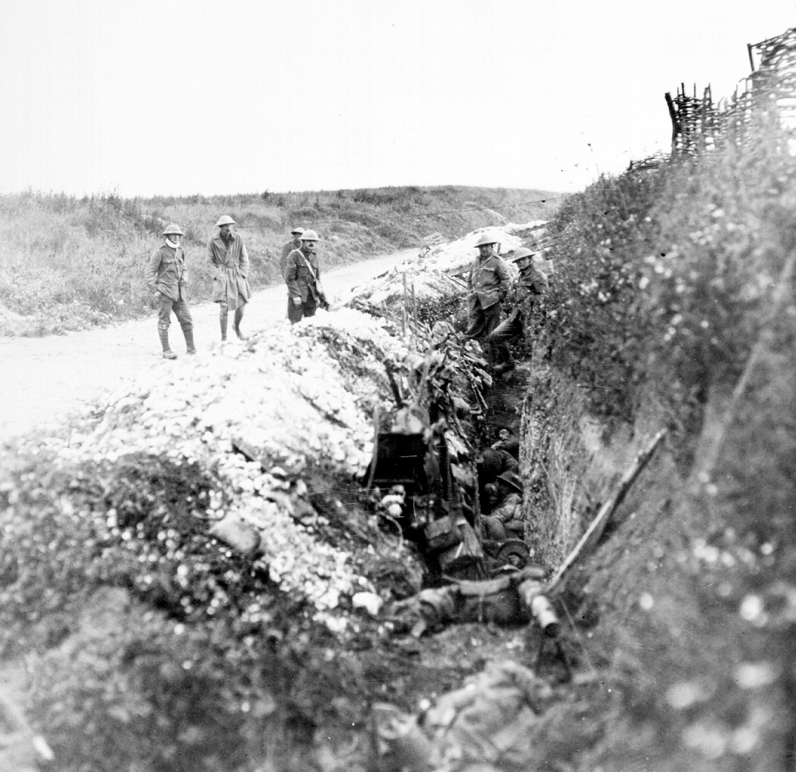 Newfoundland soldiers in St. John's Road support trench on July 1, 1916. Courtesy of The Rooms Provincial Archives Division (NA 3105), St. John's, NL