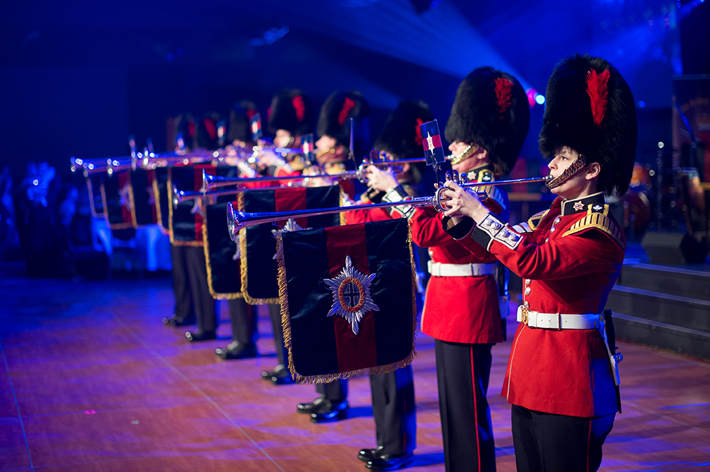 The Fanfare Team from the Regimental Band of the Governor General's Foot Guards