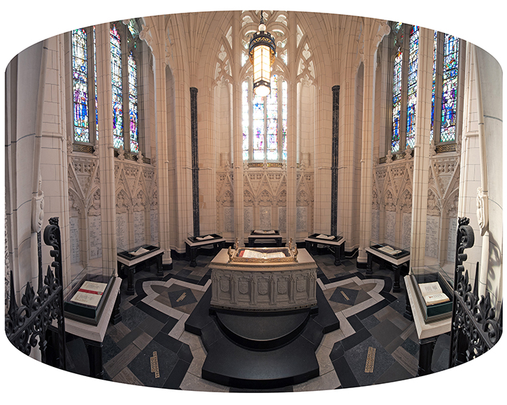 The centrepiece of the Memorial Chamber on Parliament Hill