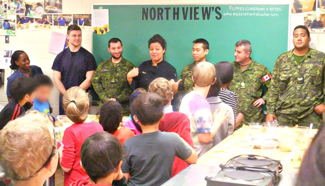 Cooks from 32 Service Battalion were involved with International Chef's day at Northview Heights Secondary School on October 22, 2016.