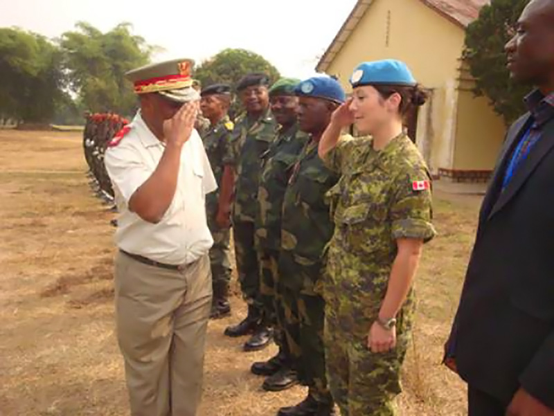 Lieutenant-Colonel Marie-Ève Tremblay, a Canadian Army Legal Officer, says a deployment to the Democratic Republic of Congo early in her career is indicative of the exciting opportunities that come with a career in military law.