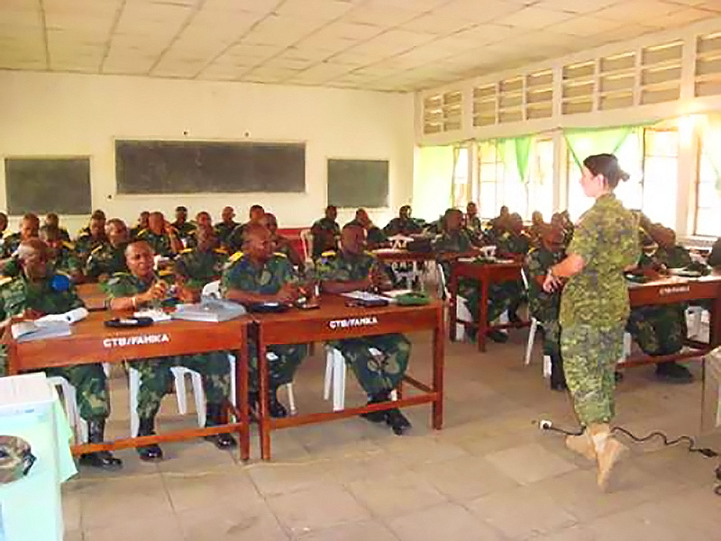 Army Legal Officer Lieutenant-Colonel Marie-Eve Tremblay has served as a mentor to military prosecutors in the Democratic Republic of Congo and says the experience were the realization of her ambition to make a difference in difficult parts of the world.