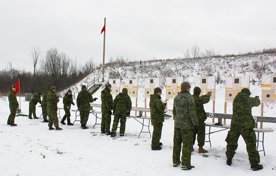 Students training