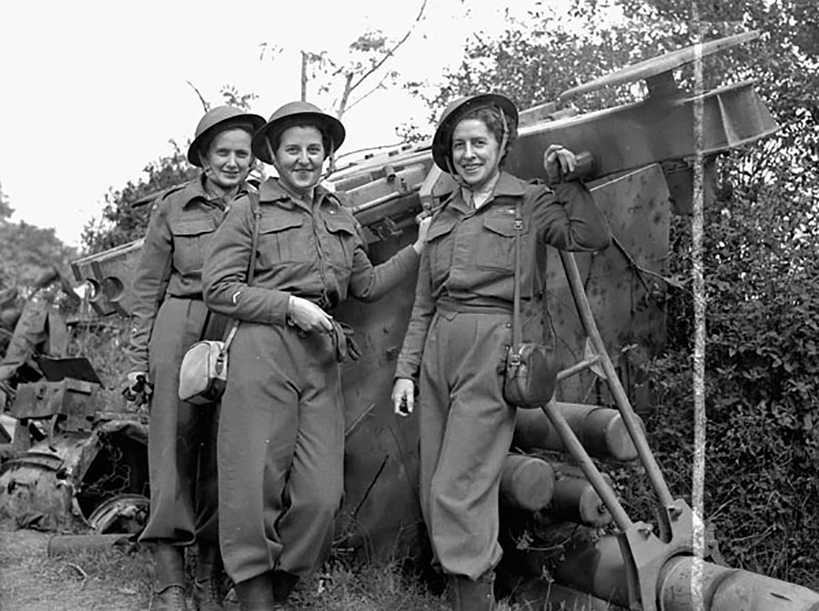 The first nursing sisters of the Royal Canadian Army Medical Corps to land in France after D-Day, June 6, 1944.