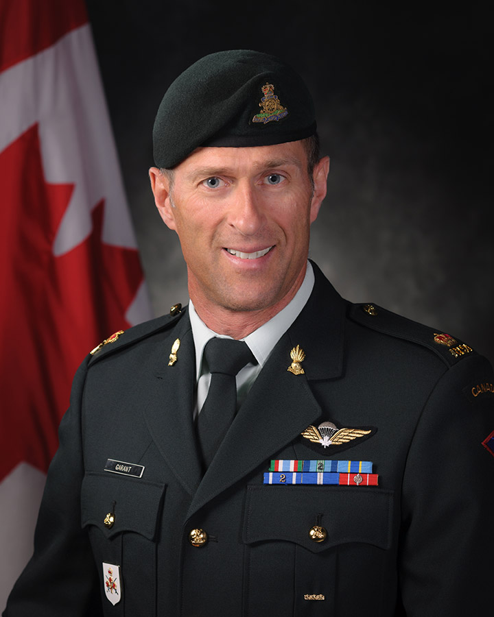 Major Gus Garant was honoured with a Chief of the Defence Staff Commendation on June 8, 2017 in Ottawa, Ontario for his work as Director of the Army Run. A life-long physical fitness buff, Maj Garant says the opportunity to travel to other running events and meet like-minded athletes is one of the job's many highlights. Photo: Master Corporal Carole Gosselin, Canadian Forces Support Unit (Ottawa). ©2017 DND-MDN Canada.