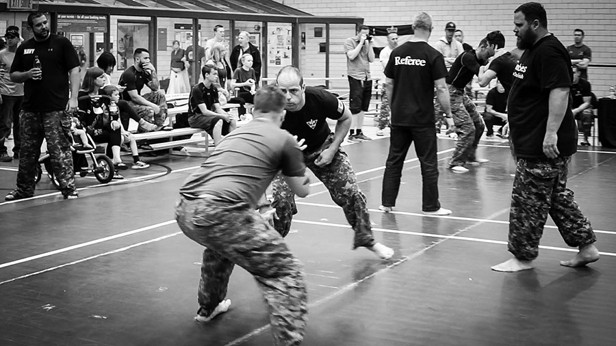 The Military Combatives Grappling Championship, which took place in Petawawa in June, is the creation of Lieutenant-Colonel Steve Burgess. An expert in martial arts and close-quarters fighting, he started the event in 2013 as a way to increase the profile of hand-to-hand fighting techniques in the Canadian Armed Forces. Photo: Joseph J. Kim