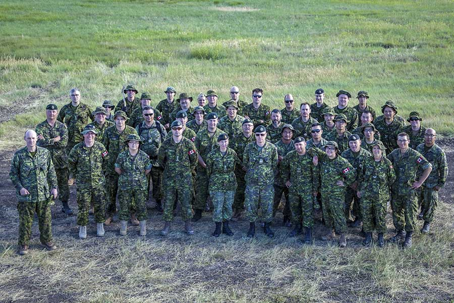 Members of 38 Signal Regiment and 38 Combat Engineer Regiment, both of 38 Canadian Brigade Group, participated in Exercise GOLDEN COYOTE, conducted in the Black Hills, South Dakota and Wyoming from June 12 to 20 2017.