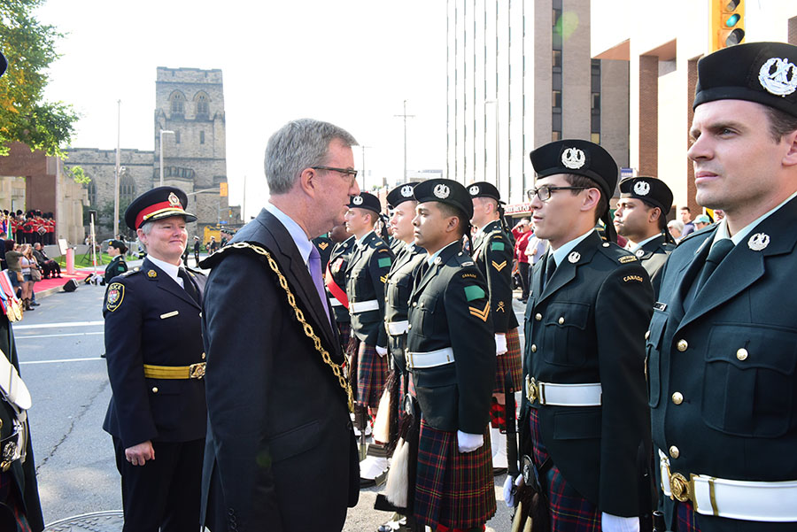 The City invited back all 18 military and three cadet units granted Freedom of the City