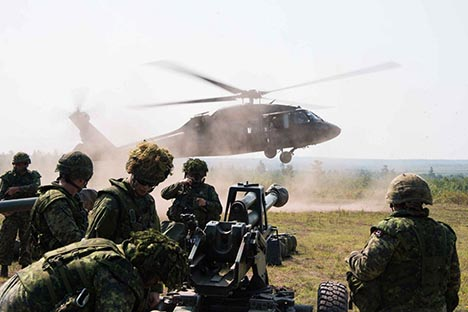 Soldiers participating in Exercise MAROON RAIDER,