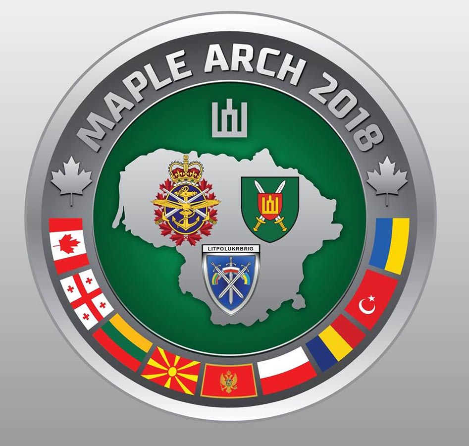 The Exercise MAPLE ARCH 2018 official crest