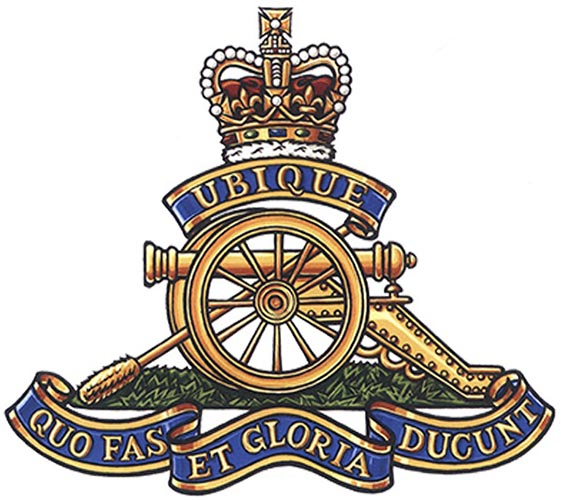 The badge of the Royal Regiment of Canadian Artillery includes the mottoes 'Ubique' (Everywhere) and 'Quo Fas et Gloria Ducunt' (Whither right and glory lead). ©2019 DND/MDN Canada.