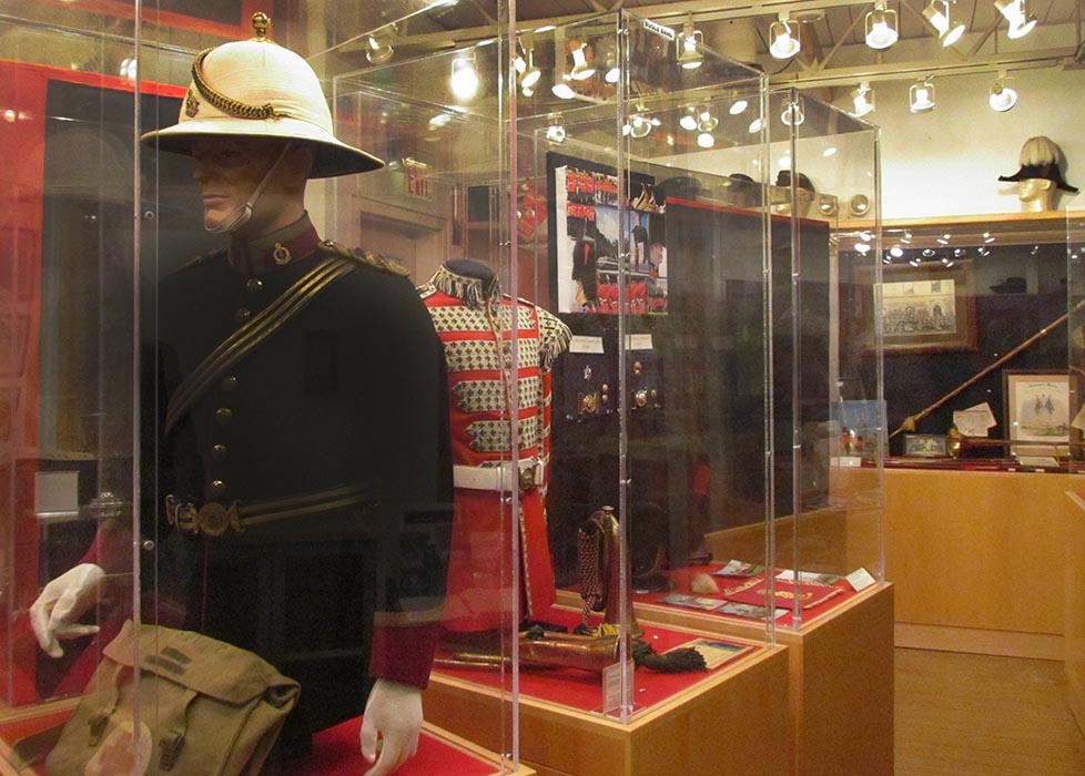 A view of the Governor General's Foot Guards Regimental Museum in Ottawa. It tells the regiment's history in chronological order and features an impressive array of artifacts including uniforms, weapons, medals and war diaries.  Photo: Steven Fouchard, Army Public Affairs. ©2019 DND/MDN Canada.