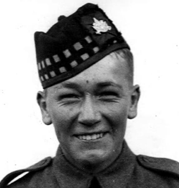 """George Pollard was born on the 28th of May, 1923, in Cornwall Ontario. He first tried to enlist with his local militia regiment, The Stormont, Dundas and Glengarry Highlanders in September 1939, but was turned away for being underage. Not to be deterred, George once again lied about his age, and was able to enlist on the 27th of June 1940. George was now a Glen."" Photo provided by Canadian Research and Mapping Association"