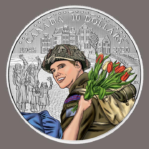 The Canadian Mint's latest coin to commemorate the Liberation of the Netherlands