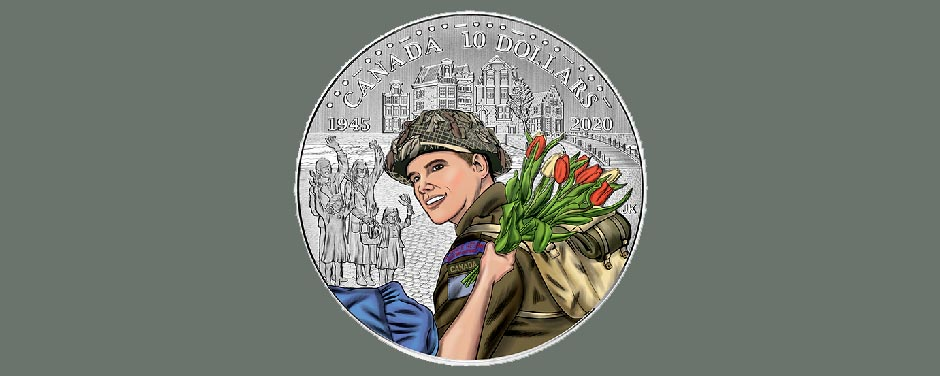 Slide - The Canadian Mint's latest coin to commemorate the Liberation of the Netherlands