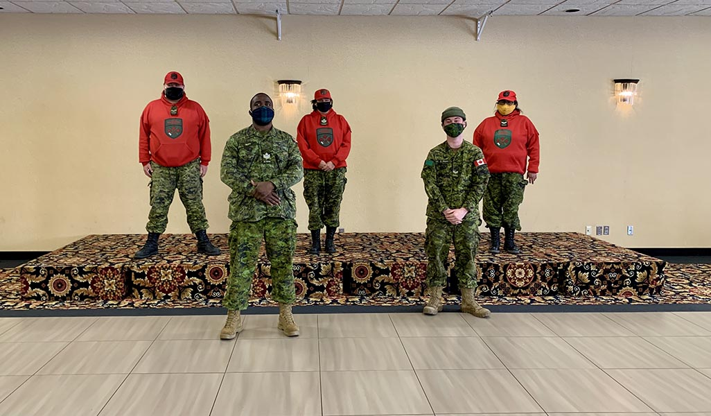 Members of 3 Canadian Ranger Patrol Group are supporting COVID-19 vaccine distribution in their home communities in Northwestern Ontario as part of Task Force Lakehead. The task force also includes both Naval and Army Reservists.  Photo: provided by HMCS Griffon. ©2021 DND/MDN Canada.